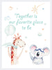 Together is our favorite place Poster Kunstdruck - Kunst für Kinder, KUNST-ONLINE Wandbild