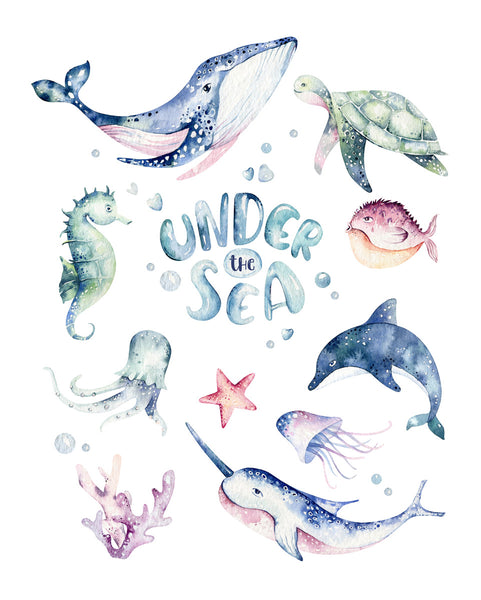 Under the sea Poster Kunstdruck - Kunst für Kinder, KUNST-ONLINE Wandbild