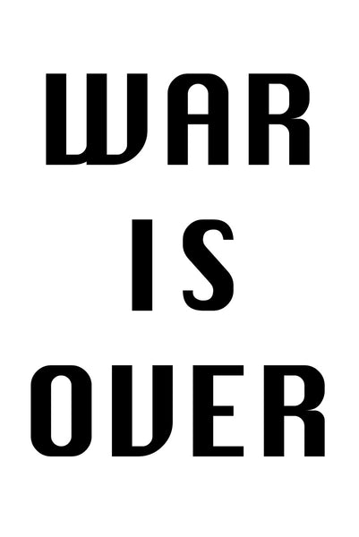 War is over Poster Kunstdruck - Typografie, KUNST-ONLINE Wandbild