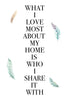 What i love most about my home Poster Kunstdruck - Typografie, KUNST-ONLINE Wandbild