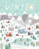 Winter Poster Kunstdruck - Illustration, KUNST-ONLINE Wandbild