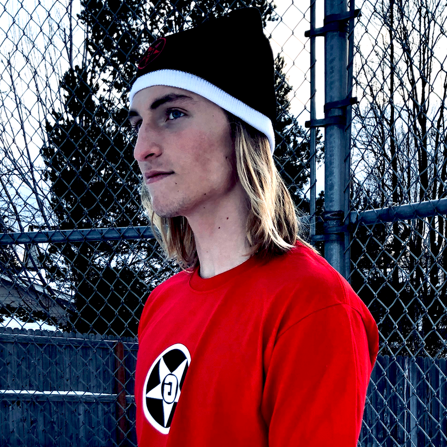 Godless Industries - The Black / White Two Tone Knit Beanie