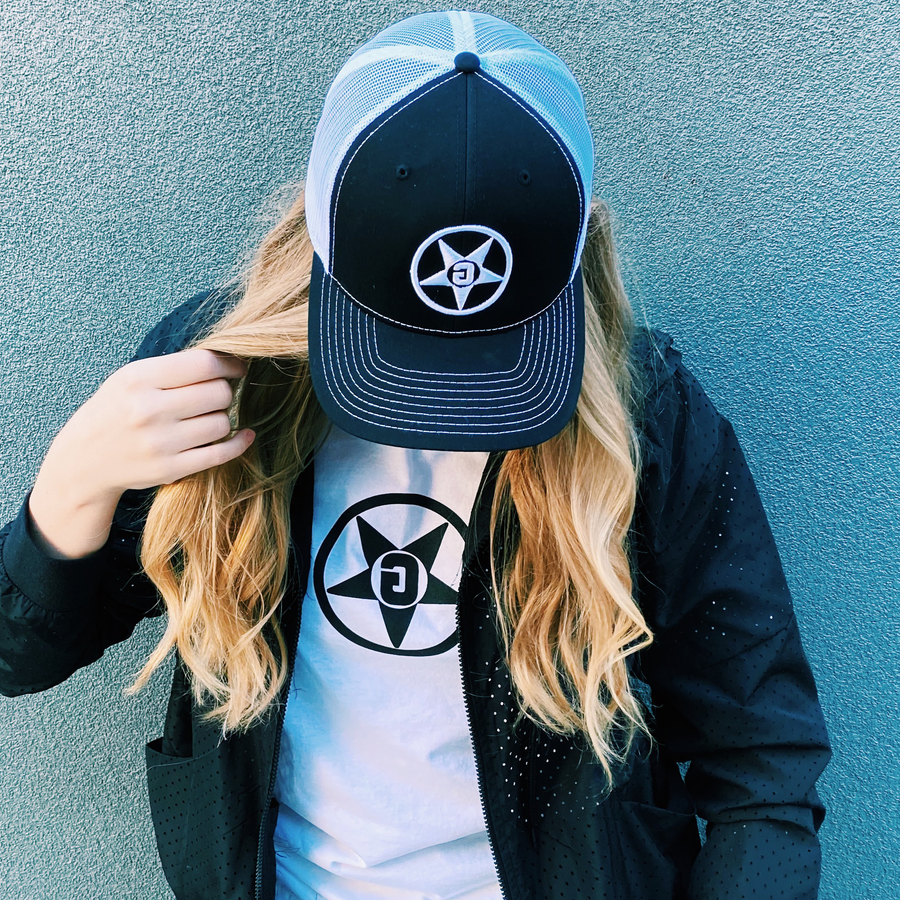 Godless Industries - The Black/White Snapback Hat