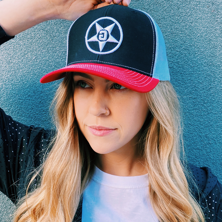 Godless Industries - The Black/Red/White Snapback Hat
