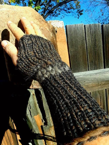 Buffalo and Wolf Fingerless Gloves