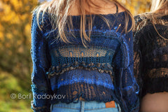 Indigo Crop Top