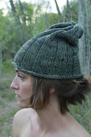Slouchy Hat in Greens