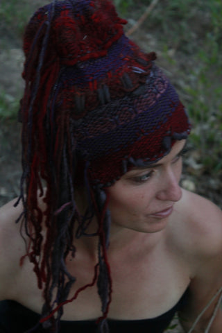 Deep Sunset colors fringe Hat