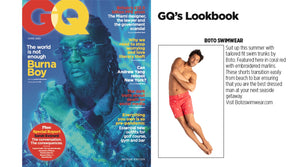Boto swimwear swim trunks recommended by British GQ