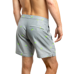 "Aruba 6.5"" Heathered Grey Limes Swim Trunks"