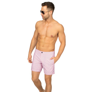 "Aruba 6.5"" Pastel Pink Swim Trunks"