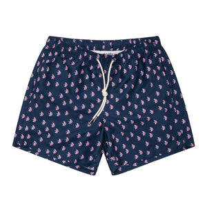 "Cabo 5"" Navy Angel Fish Swim Trunks"