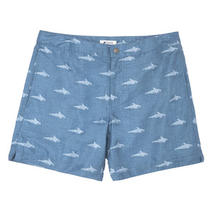 "Aruba 6.5"" Denim Orca Swim Trunks"