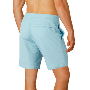 "Aruba 8.5"" Aqua Blue Swim Trunks"