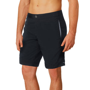 "Aruba 8.5"" Midnight Black Swim Trunks"