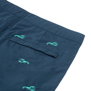 "Aruba 8.5"" Denim Embroidered Lobsters Swim Trunks"