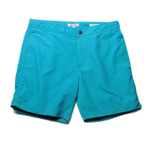 "Aruba 6.5"" Mosaic Blue / Green Swim Trunks"