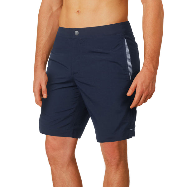 "Aruba 8.5"" Deep Navy Blue Swim Trunks"