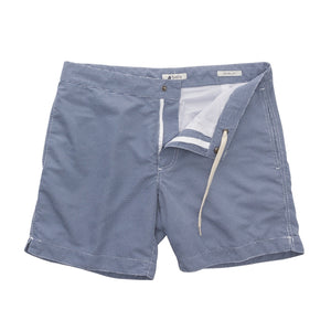 "Aruba 6.5"" Micro Checks Ash Blue Swim Trunks"