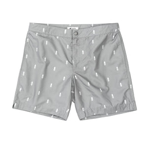 "Aruba 6.5"" Grey Pineapples Swim Trunks"