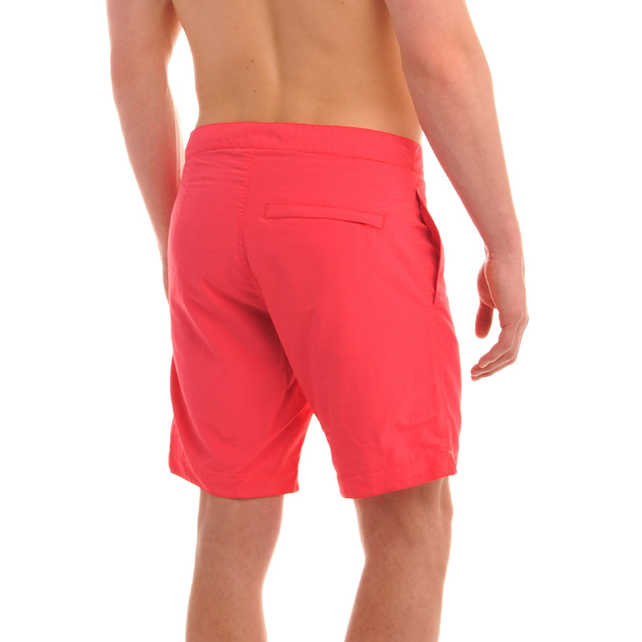 "Aruba 8.5"" Coral Red Swim Trunks"