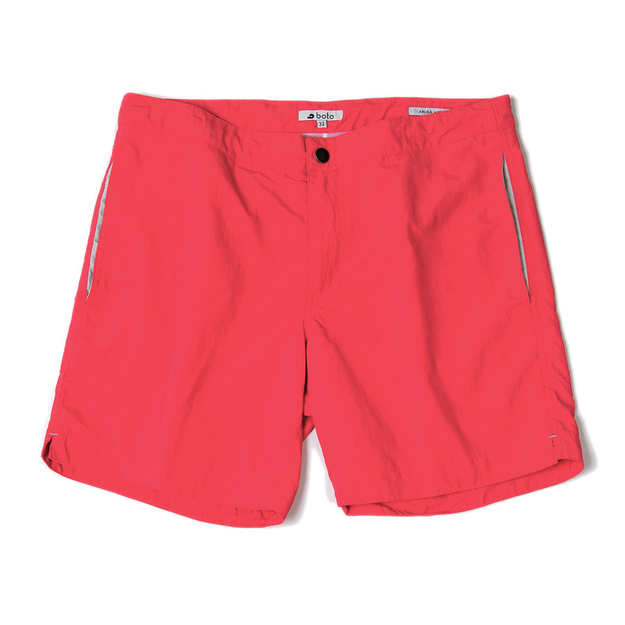 "Aruba 6.5"" Island Coral Red Swim Trunks"