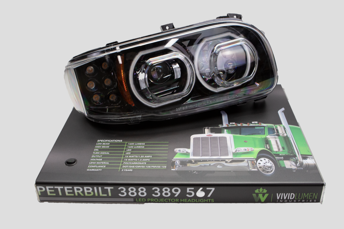 Peterbilt 389 Headlight Display