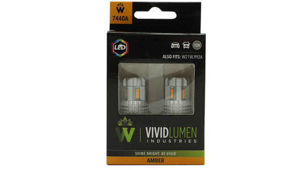 7440A: AMBER HIGH OUTPUT LED BULBS