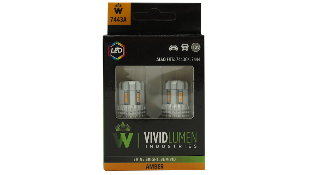 7443A: AMBER HIGH OUTPUT LED BULBS