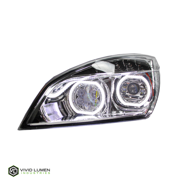 BRILLIANT SERIES: FREIGHTLINER CASCADIA LED HEADLIGHT CHROME DRIVER 2018-CURRENT