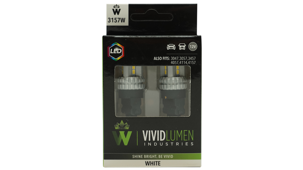 HIGH OUTPUT LED BULBS: 3157 WHITE (PAIR)