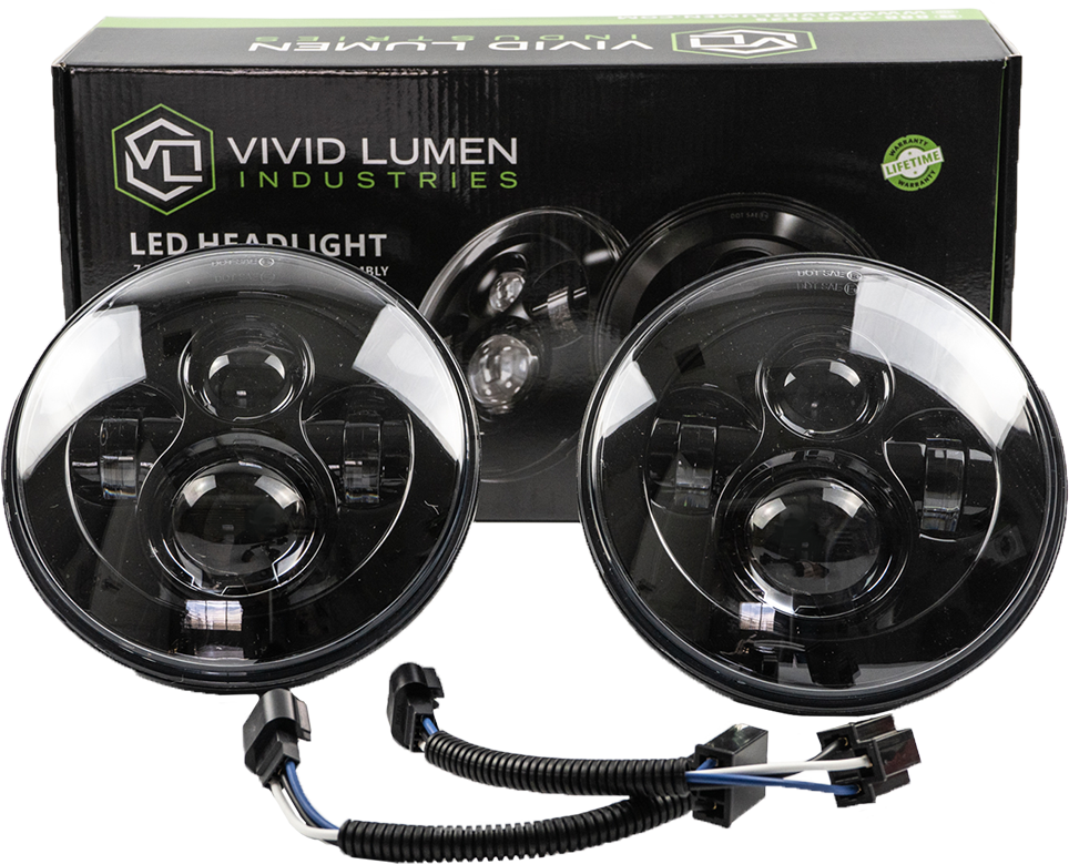 "ERA SERIES: 7"" ROUND LED HEADLIGHTS (PAIR)"
