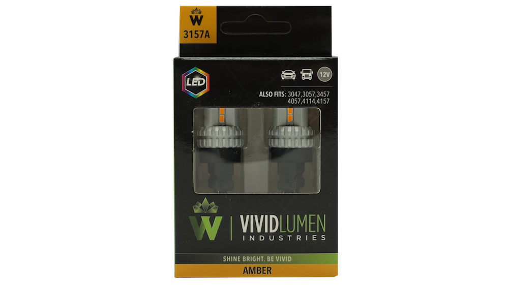 HIGH OUTPUT LED BULBS: 3157 AMBER (PAIR)