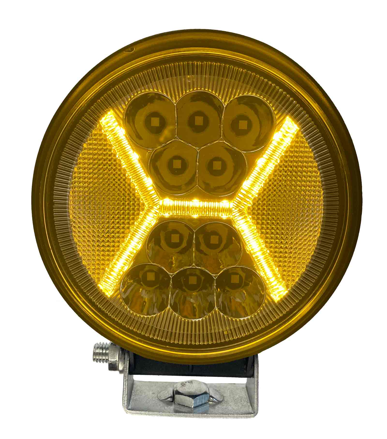 "LED WORK LIGHT: 4"" ROUND - COMBO - DUAL COLOUR"
