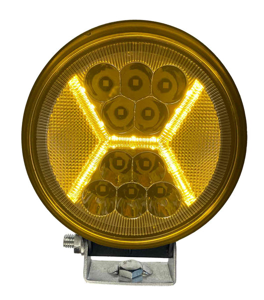 "DUAL COLOUR SERIES LED WORK LIGHT: 4"" ROUND - COMBO"