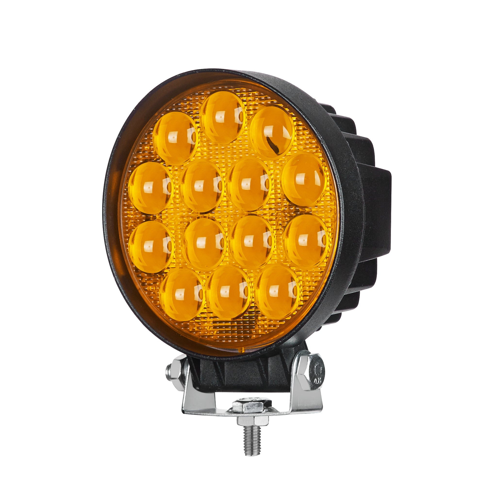 "AMBER SERIES LED WORK LIGHT: 4"" ROUND - FLOOD - AMBER"