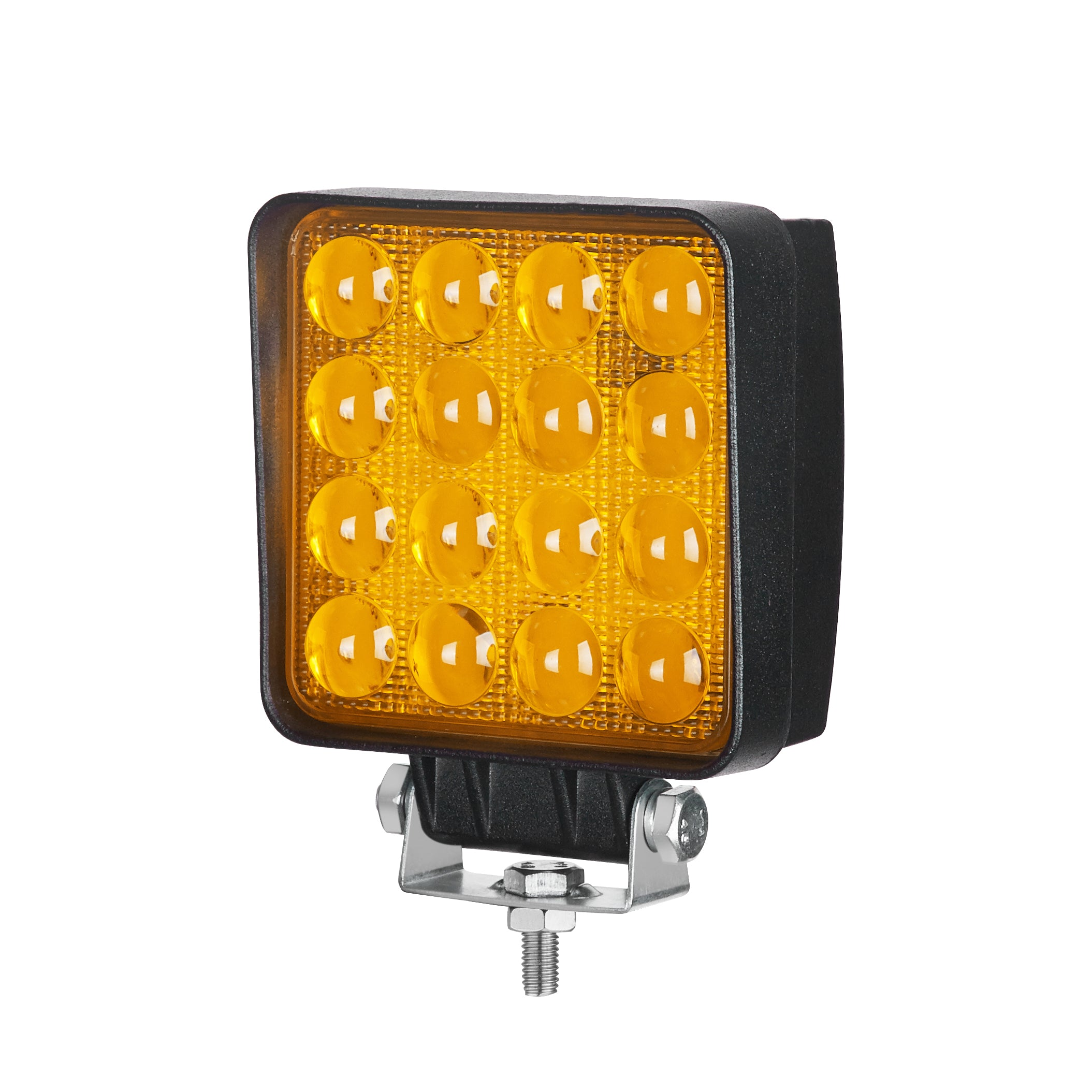 "AMBER SERIES LED WORK LIGHT: 4"" SQUARE - FLOOD - AMBER"