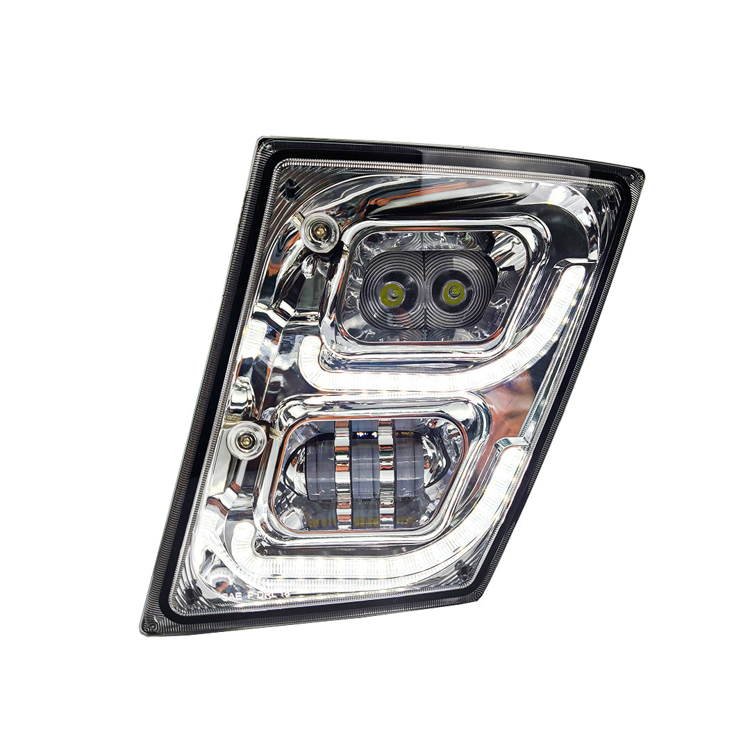BRILLIANT SERIES: VOLVO VNL LED FOG LIGHT CHROME DRIVER 2003-2018