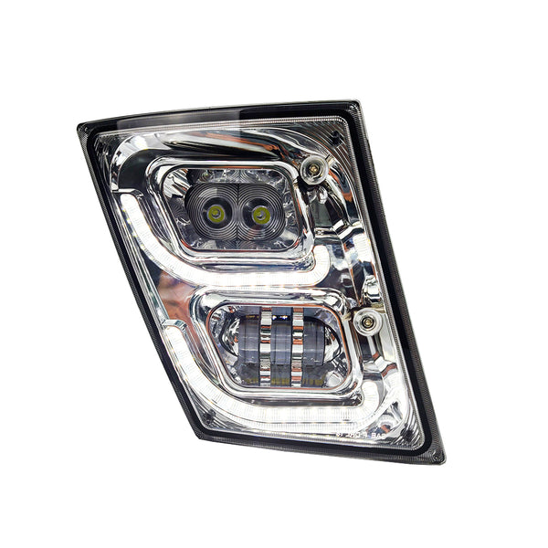 BRILLIANT SERIES: VOLVO VNL LED FOG LIGHT CHROME PASSENGER 2003-2018