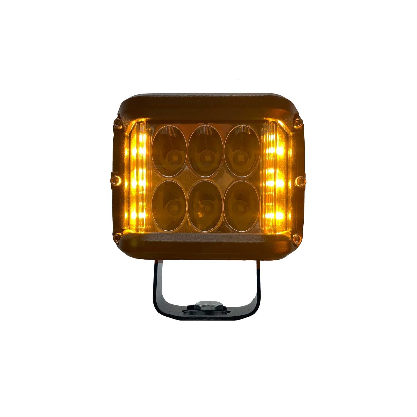 "LED WORK LIGHT: 3"" SQUARE - FLOOD - DUAL COLOUR"