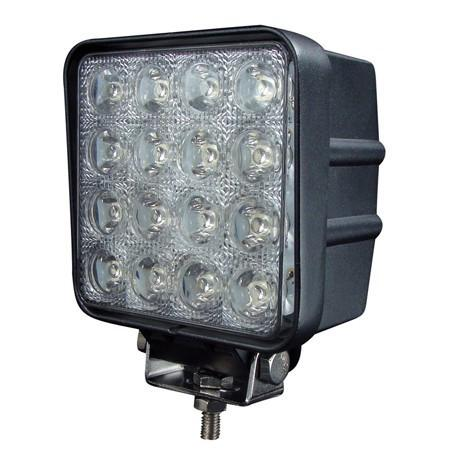"LED WORK LIGHT: 4"" SQUARE - FLOOD"