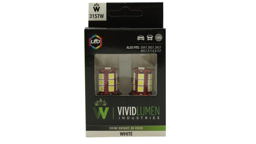 LONG LASTING LED BULBS: 3157 WHITE (PAIR)