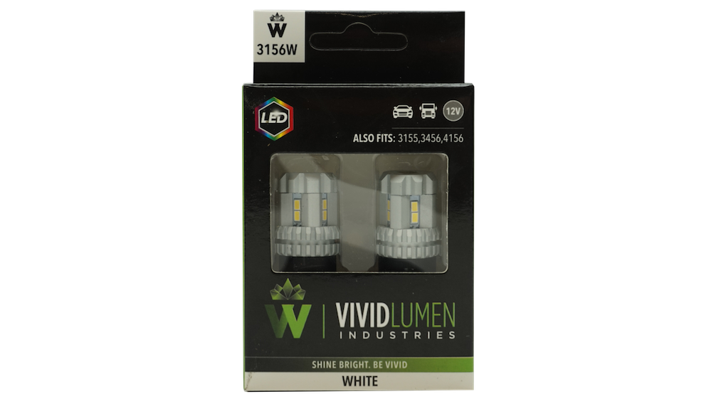 HIGH OUTPUT LED BULBS: 3156 WHITE (PAIR)