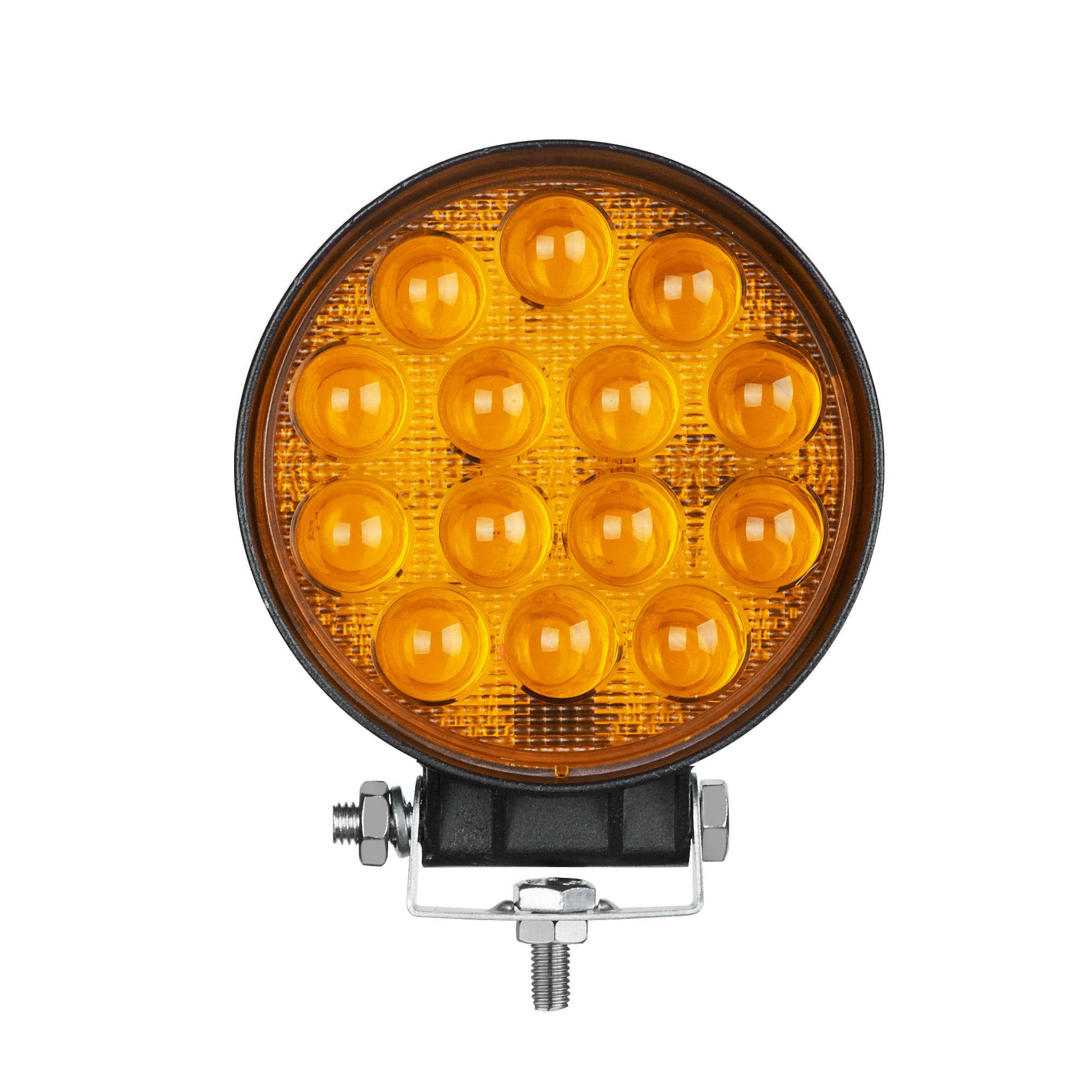 "LED WORK LIGHT: 4"" ROUND - FLOOD - AMBER"