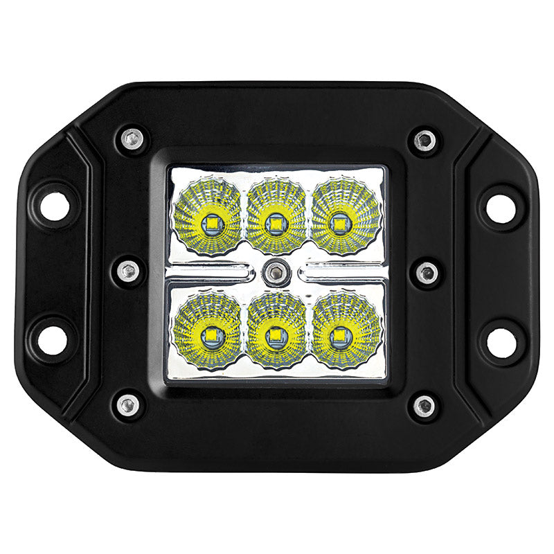 "LED WORK LIGHT: 3"" FLUSH SQUARE - SPOT"