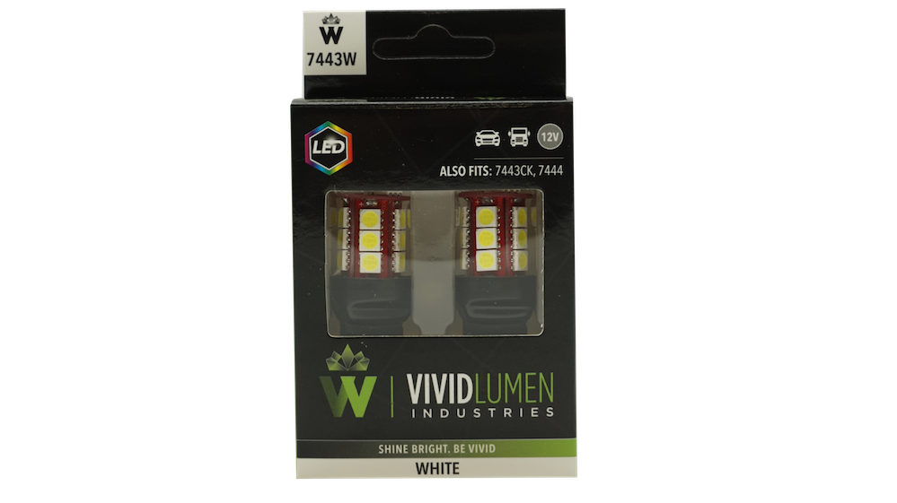 7443W: WHITE LONG LASTING LED BULBS