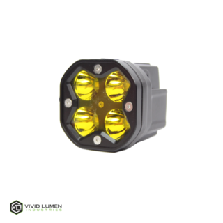 (PAIR) SERIES: 40W POD STYLE SPOT LIGHTS (AMBER)