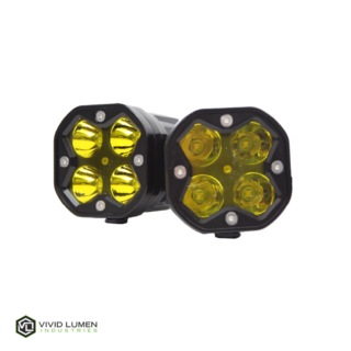 VF2 SERIES: 40W POD STYLE SPOT LIGHTS (AMBER) PAIR