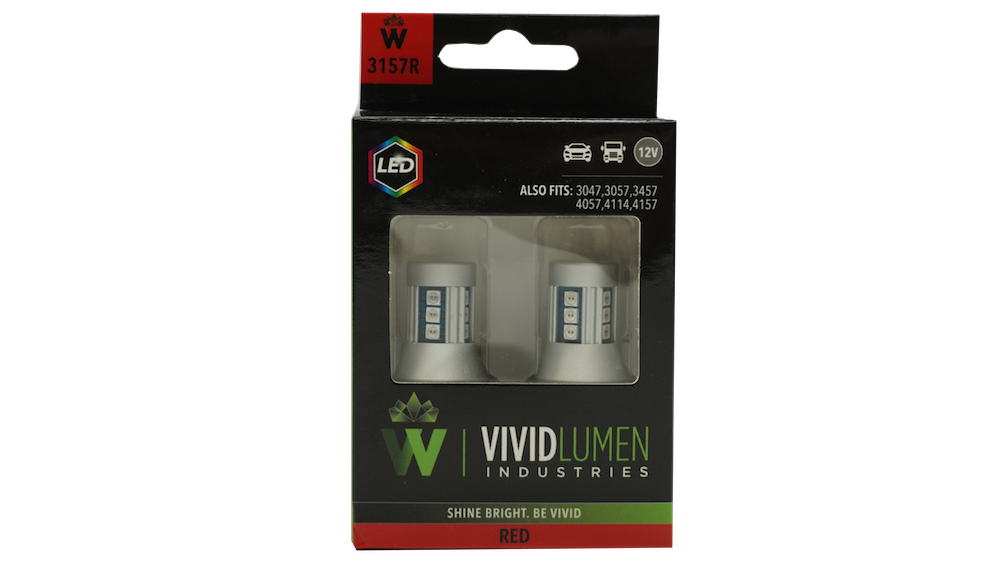 HIGH OUTPUT LED BULBS: 3157 RED (PAIR)