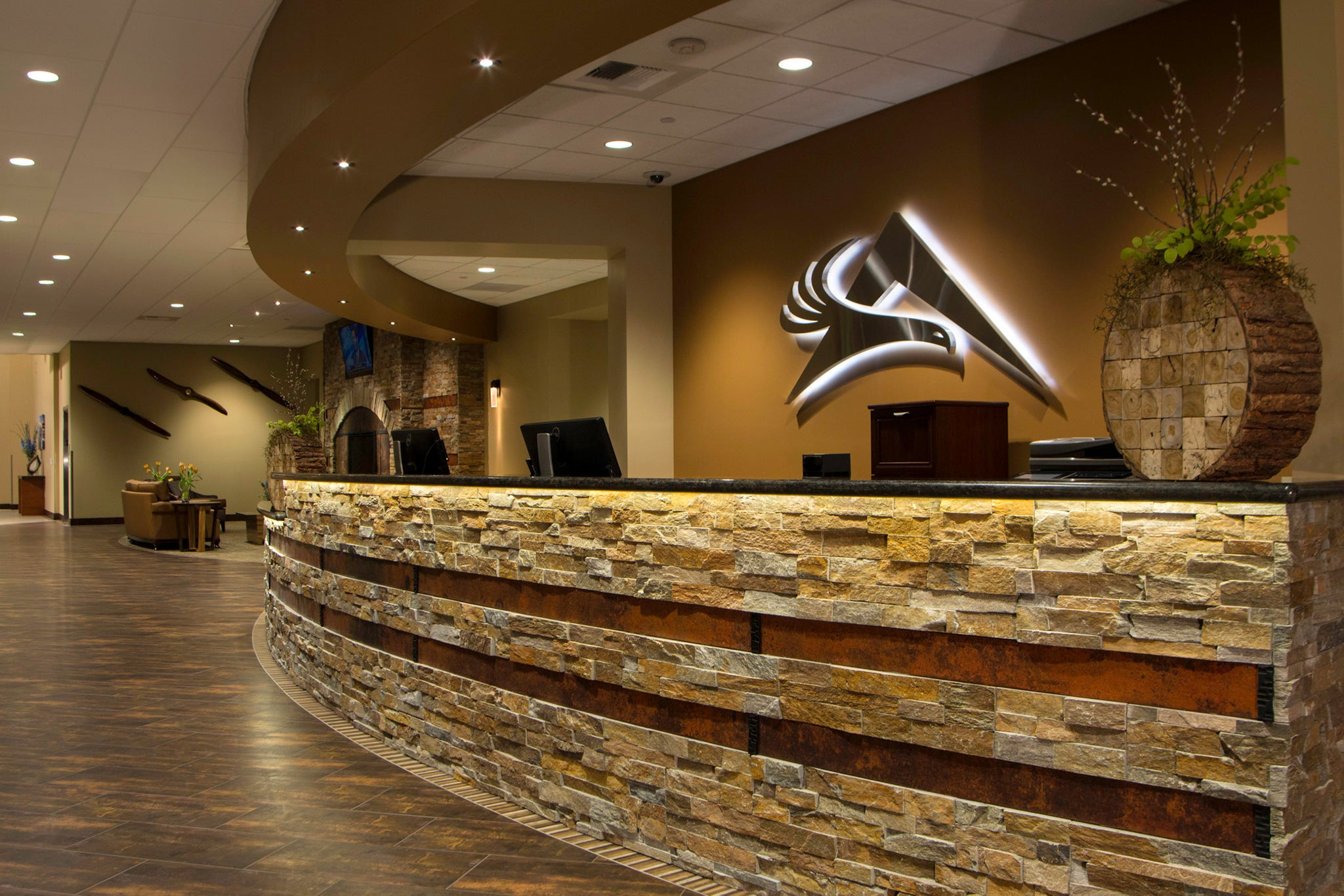 Interior design for Reno FBO front desk